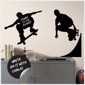 Skaters Chalkboard Wall Decals   Skateboarding Chalkboard Wall Stickers Part 74