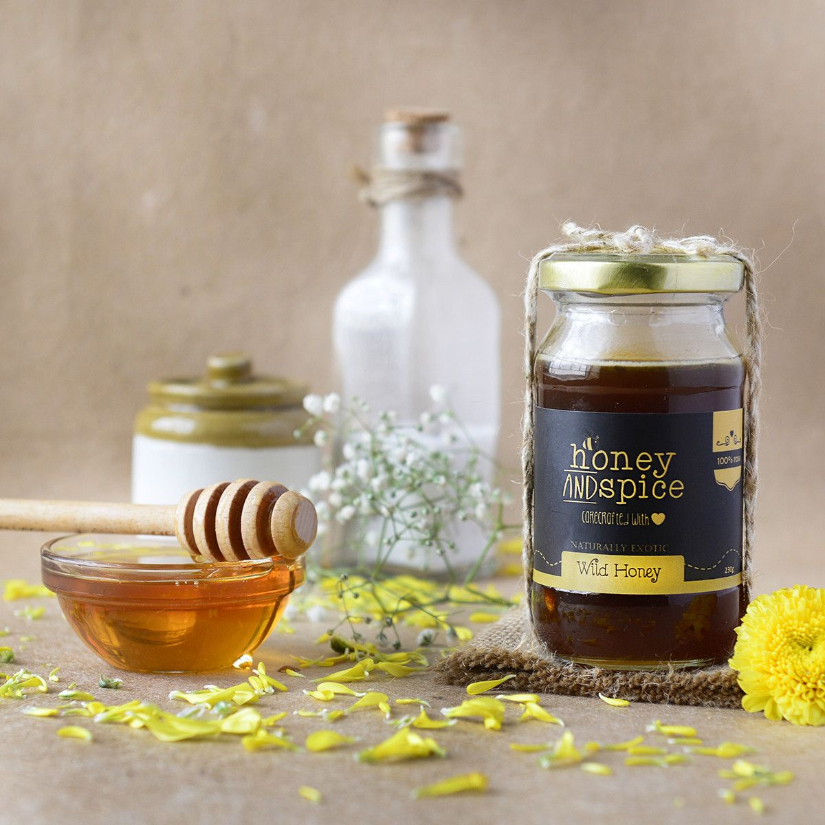 Wild Homey. Collected from the forests of India by tribal Honey hunters, this Honey is extremely unique and exotic. Best Upto 12 months. https://www.qtrove.com/collections/preserves/products/wild-honey-1