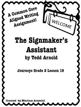 Journeys Grade 2 Lesson 19-The Signmaker's Assistant