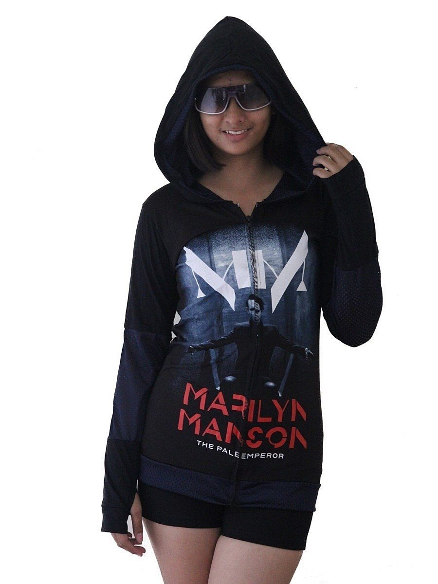 online for sale cheapest sale sale usa online Marilyn Manson Pale Emperor DIY Funky Zip Up Thumbhole ...