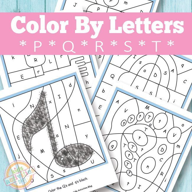 COLOR BY LETTERS P Q R S T