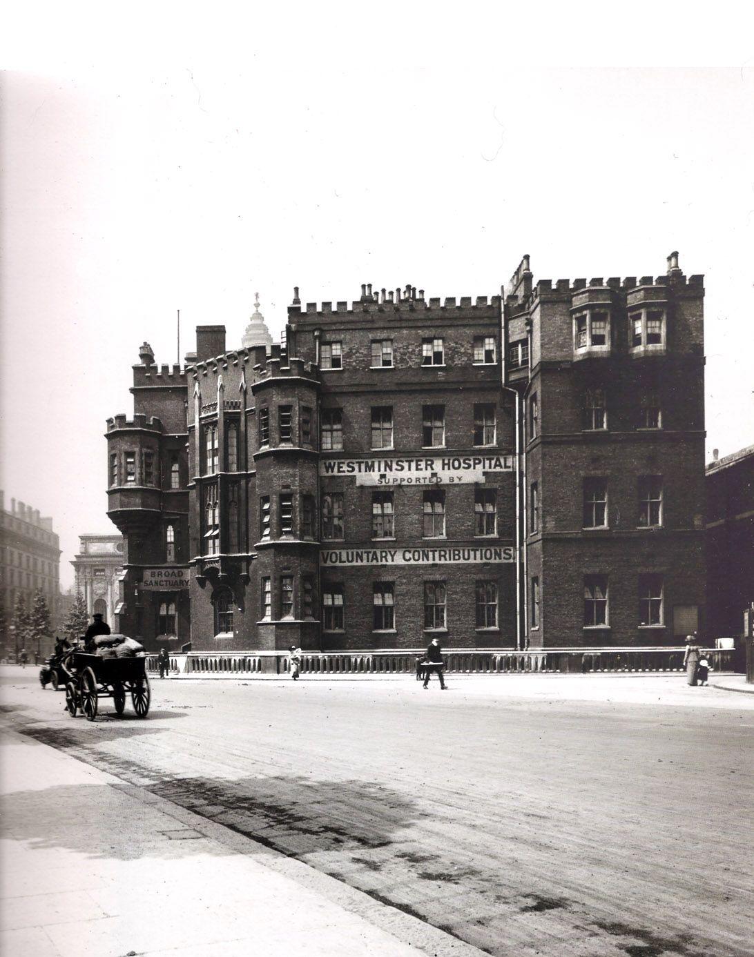 Westminster Hospital 1910 London pictures, Vintage