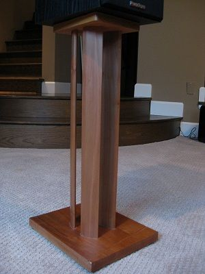 homemade speaker stands google search speaker stands speaker stands diy speakers. Black Bedroom Furniture Sets. Home Design Ideas