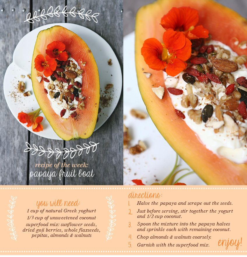 I've actually never tried Papaya and I've had about every fruit! Looks delicious. ♥ Papaya Fruit Boat | Move Nourish Believe