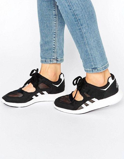 pretty nice a8943 e009b Adidas   adidas Originals Black Lace Up Open Trainers