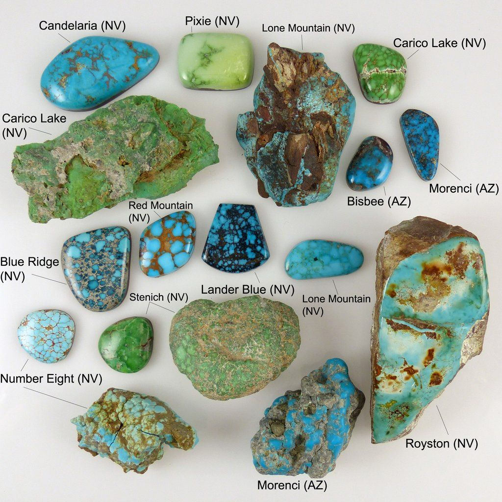 Turquoise Chart Jewelry Navajo Hopi Zuni Stones