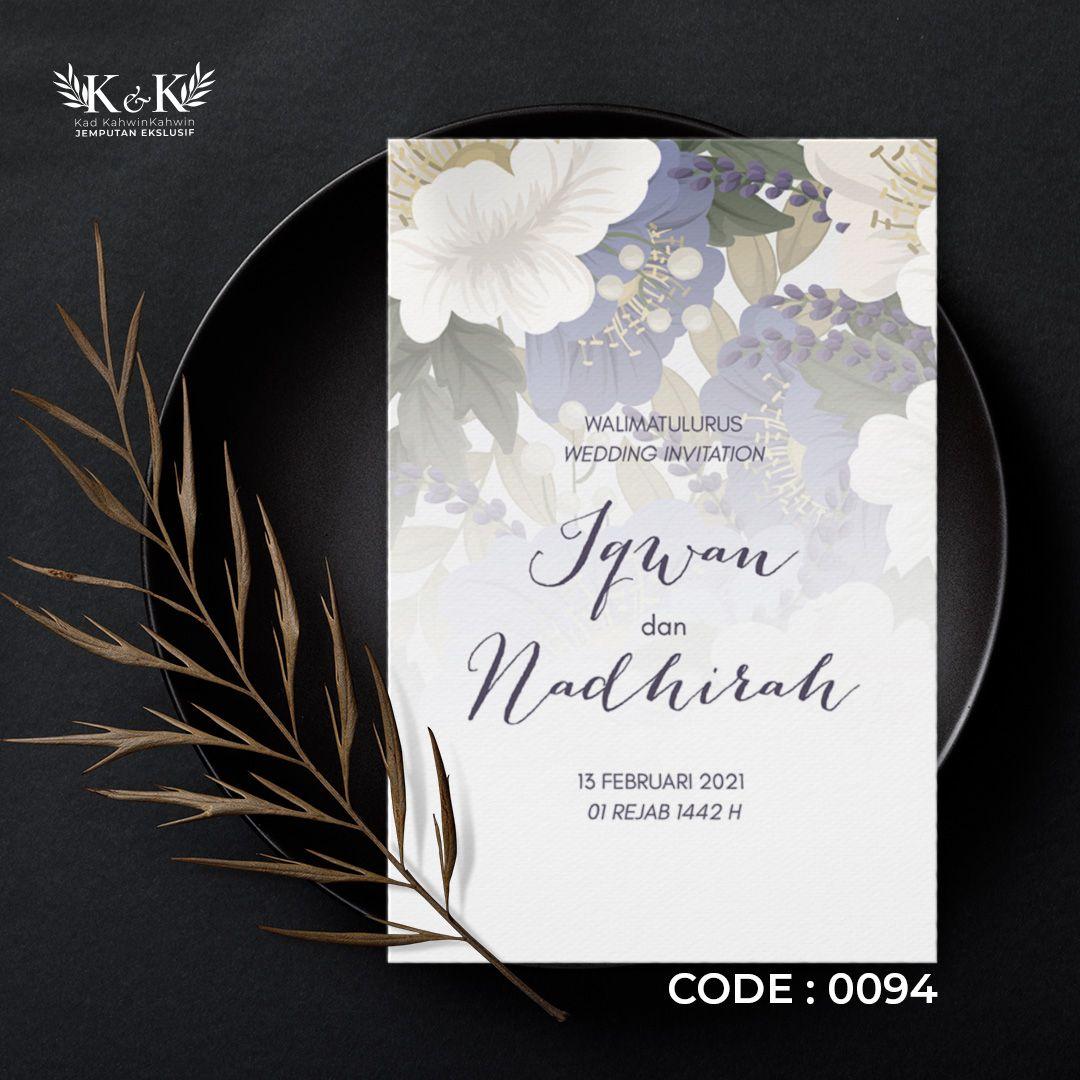 Kad Kahwin Floral Kad Jemputan Kahwin Floral Wedding Invitation In 2021 Floral Wedding Invitations Wedding Invitations Floral Wedding