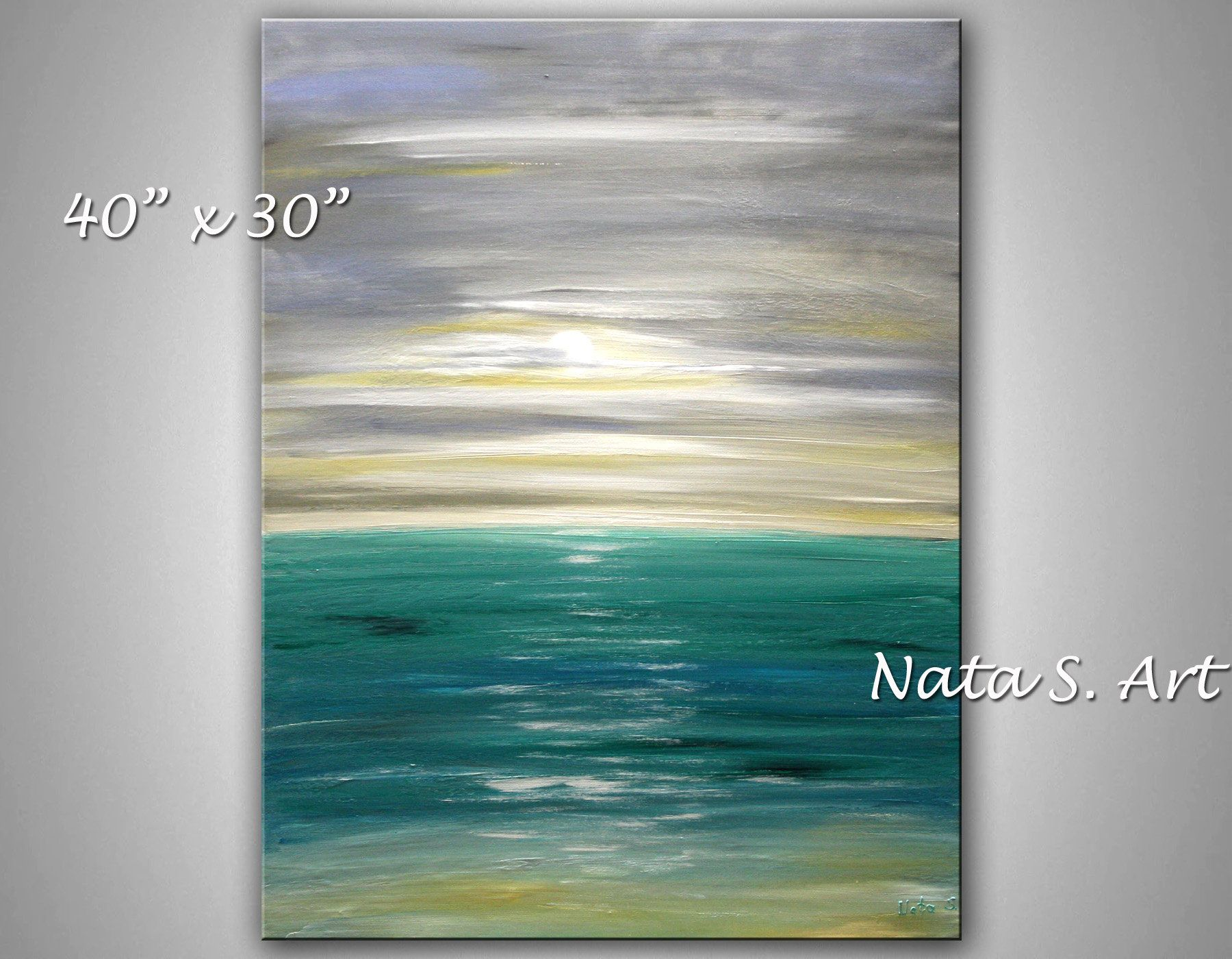 Original Ocean Painting Abstract Painting Large Ocean Wall Etsy Ocean Wall Art Ocean Painting Abstract Ocean Painting