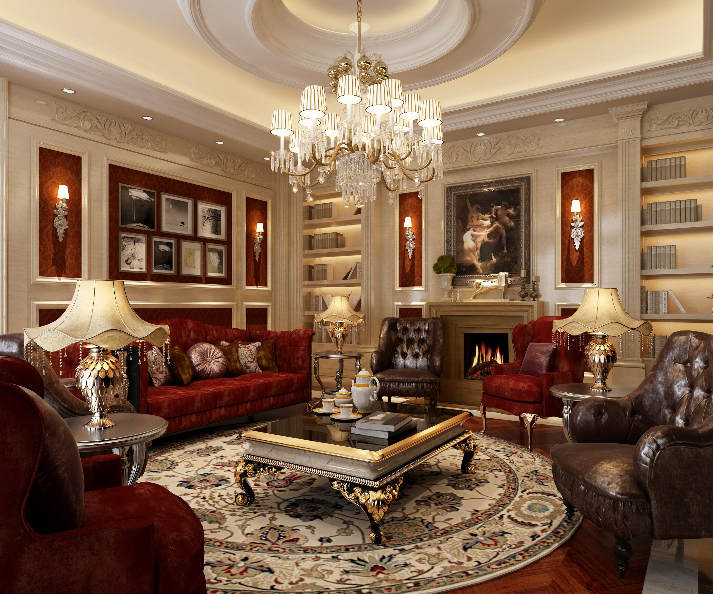 38 Elegant Living Rooms That Are Brilliantly Designed: ... Luxury Living Room 3d Model