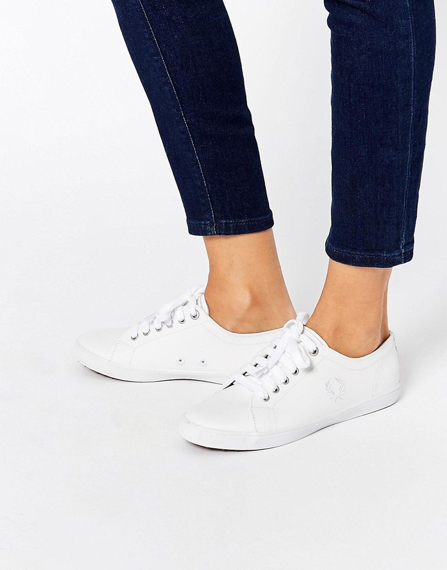 1e90417f91115 Fred Perry Kingston White Leather Sneakers
