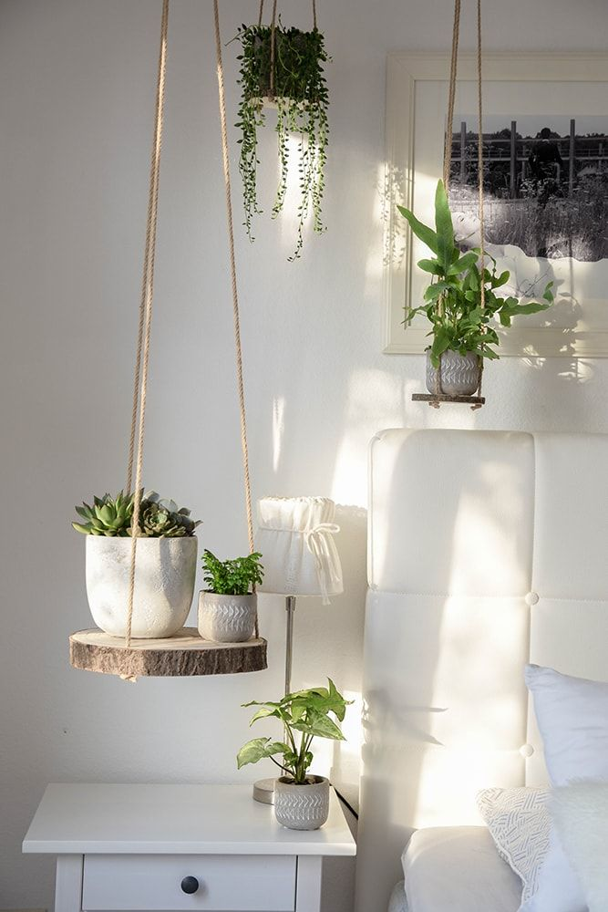 Wohnung Deko Pflanzenampel Dekoration Diy Holz