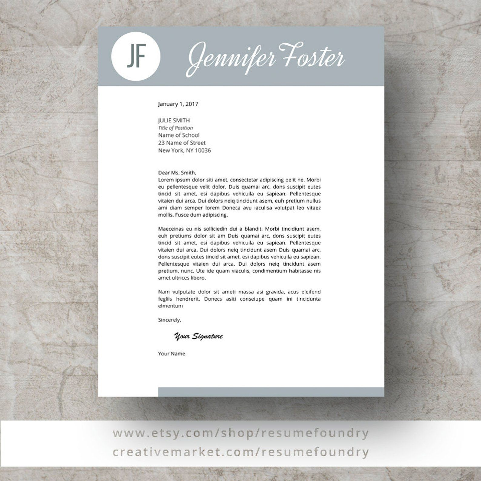 Teacher Resume Template for Word, 13 Page Resume + Cover