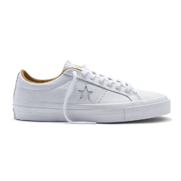 8de601bccec Converse Women s White One Star Premium Leather Sneakers ( 65) ❤ liked on  Polyvore featuring shoes