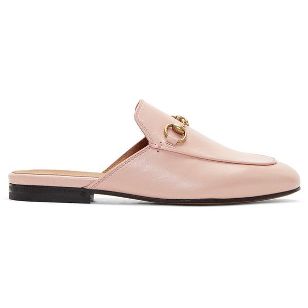 d1dd49670 Gucci Pink Princetown Slippers (185 KWD) ❤ liked on Polyvore featuring shoes,  slippers and pink