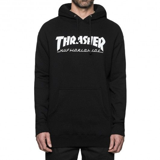 HUF X THRASHER Sweat à capuche Classic H Hood black 95,00 € #skate #skateboard #skateboarding #streetshop #skateshop @playskateshop