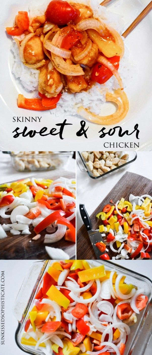 skinny sweet & sour chicken recipe. | Sunkissed Sophisticate