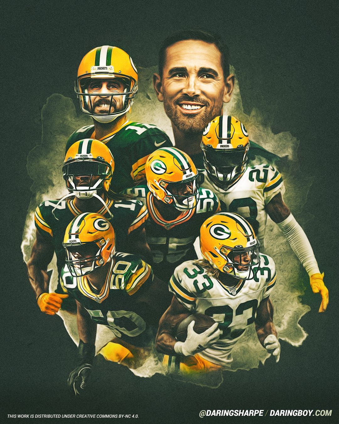 Matt Lafleur Aaron Rodgers Davante Adams Blake Martinez Za Darius Smith Aaron Jones In 2020 Green Bay Packers Crafts Green Bay Packers Green Bay Packers Wallpaper