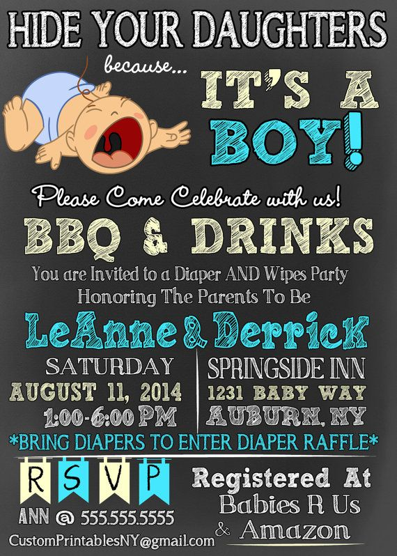 Hide Your Daughters Because It S A Boy Baby Shower