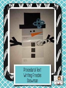 FREEBIE! Awesome craftivity to help teach procedural writing AND decorate for the whole winter!