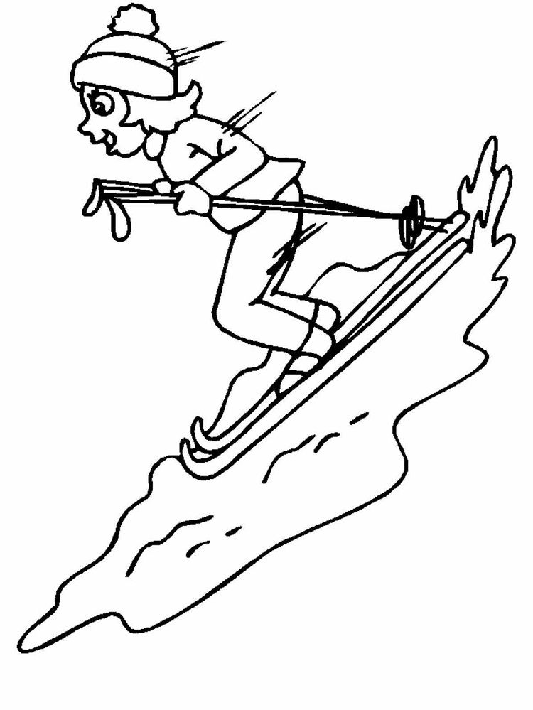 Winter Coloring Pages To Print Sports Coloring Pages Coloring Books Mermaid Coloring Pages