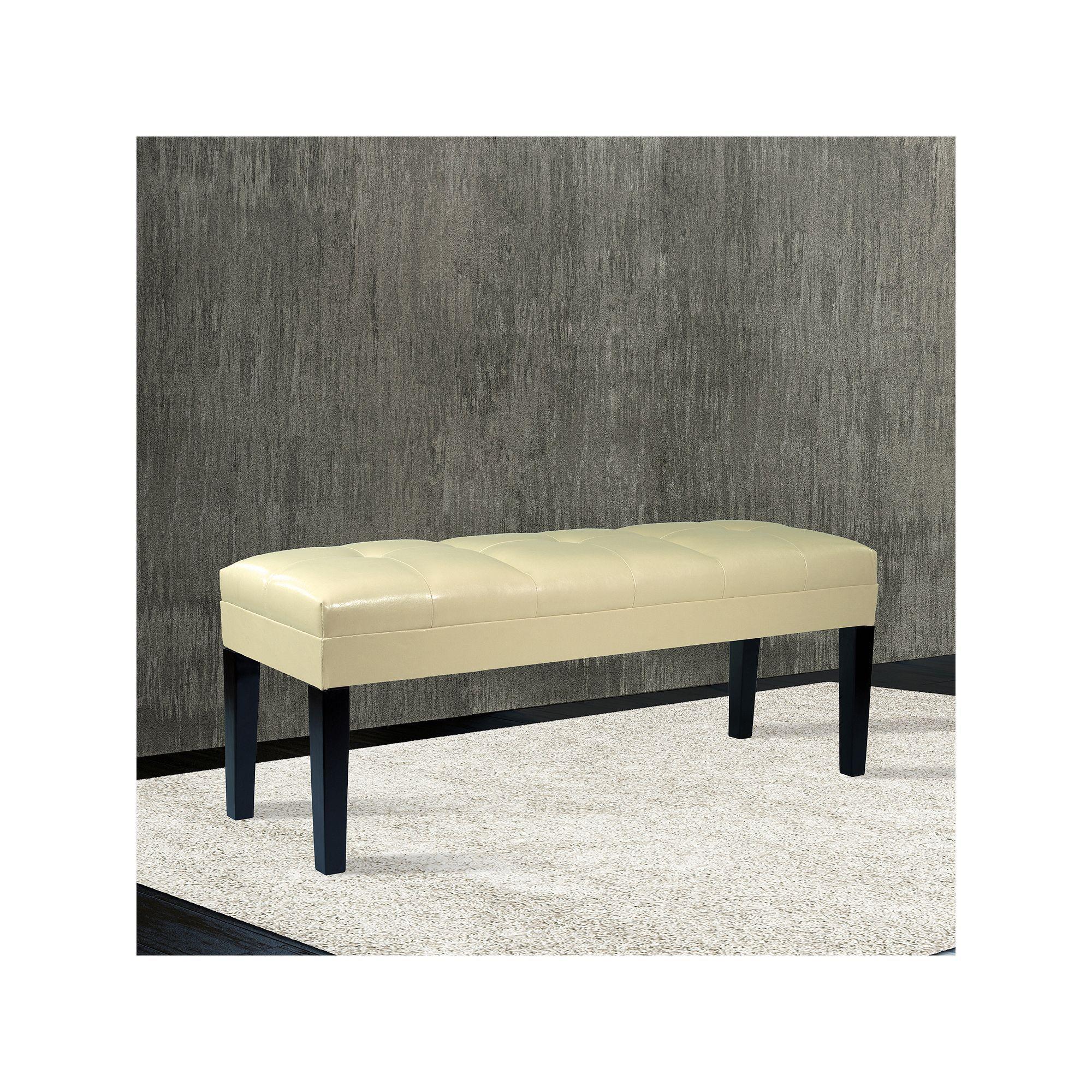 Sensational Armen Living Salia Bench Products Leather Bench Tufted Inzonedesignstudio Interior Chair Design Inzonedesignstudiocom