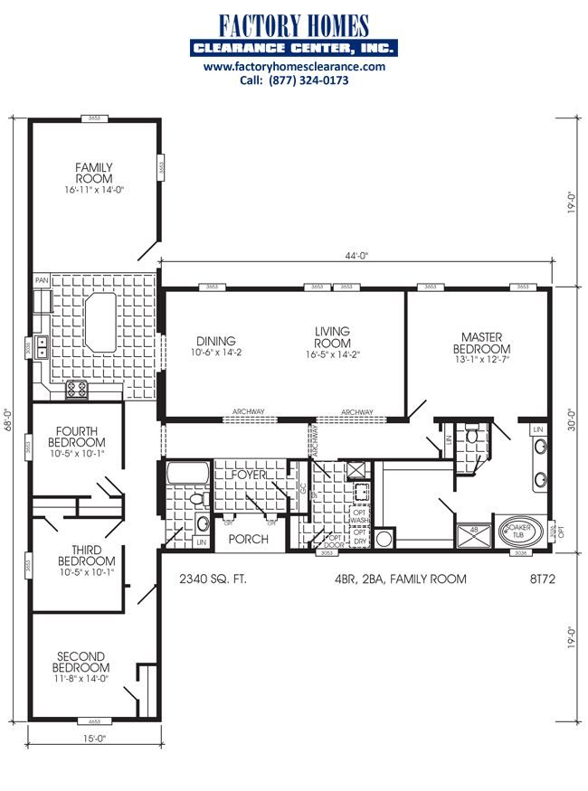 4 bedroom manufactured homes dream home triple wide - 4 bedroom double wide mobile homes ...