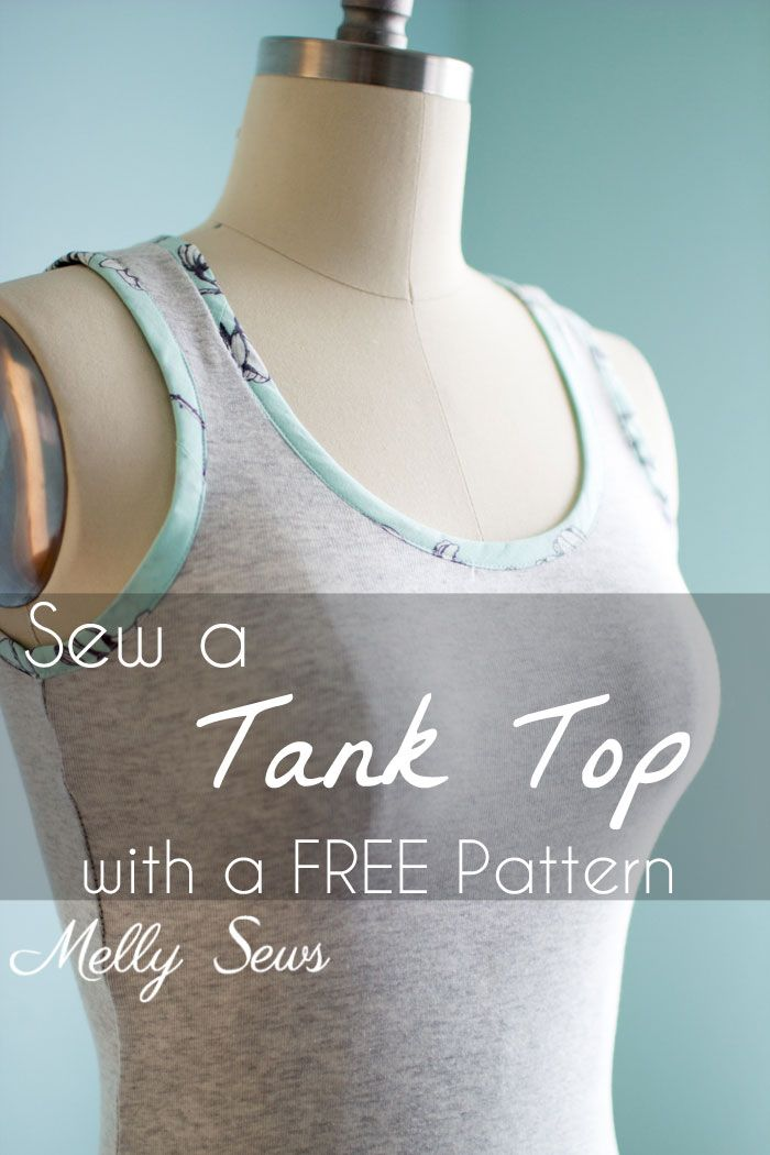 Sew a Tank Top | Nähen, Shirts nähen und Schnittmuster