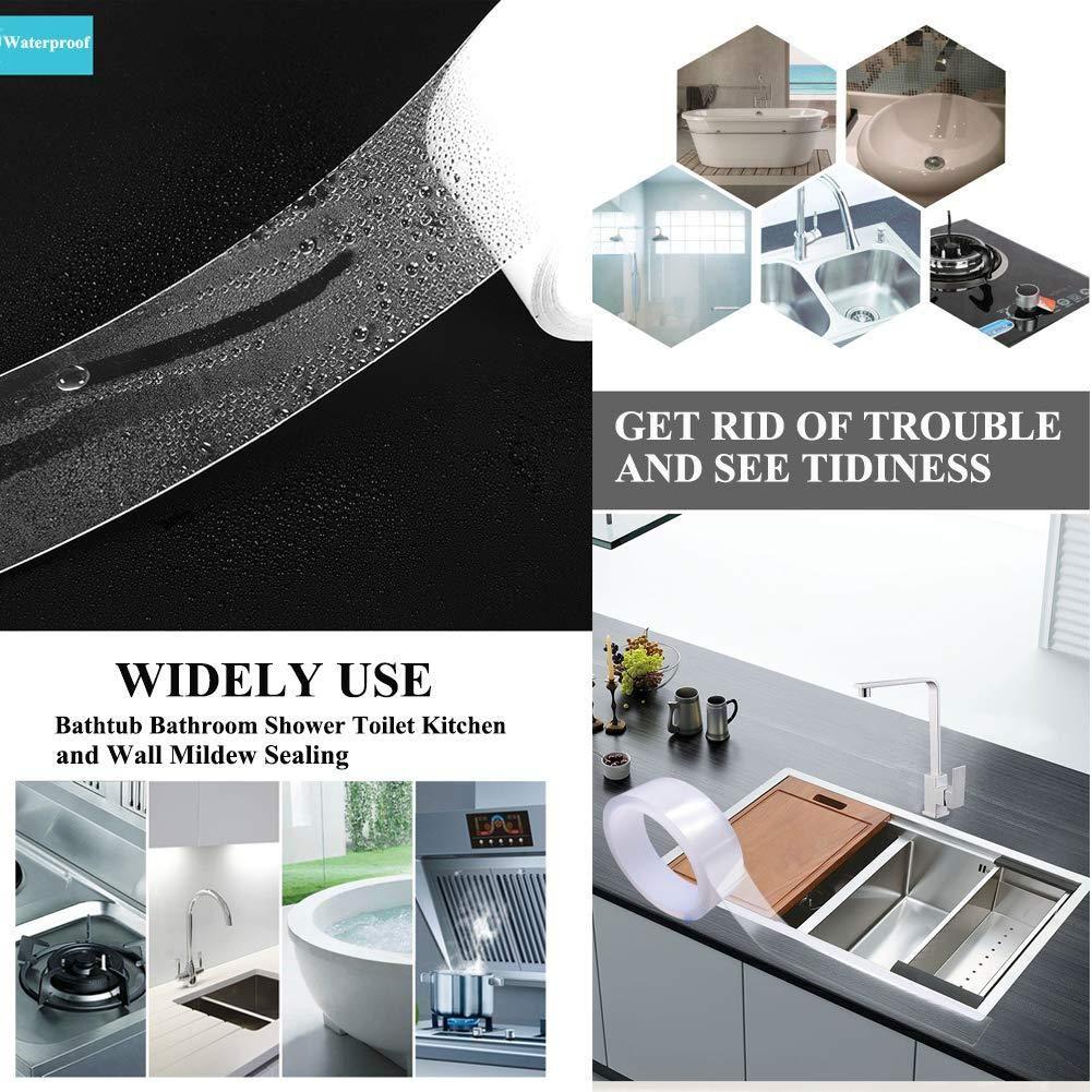 Kitchen Waterproof Mildew Tape Self Adhesive Tub And Wall Sealing Tap Getopdeal Diy Home Repair Bathroom Cleaning Renovation