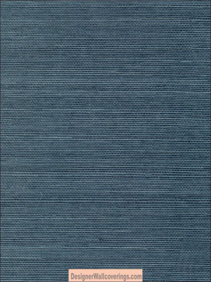 Sansai Sisal Grasscloth - Royal Blue GRS-6012  Designer Walls