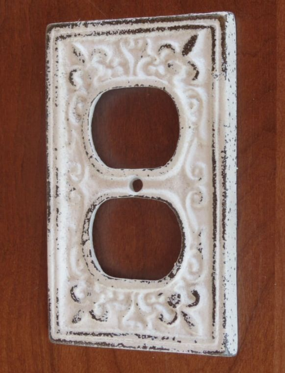 Antique White Distressed Outlet Covers