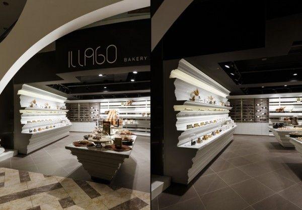 Bakery and wine shop interior design · intérieur de
