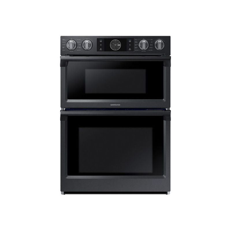 Samsung 30 Microwave Combination Wall Oven Black Stainless Steel: Samsung 30 Electric Self-Cleaning Convection Wall Oven