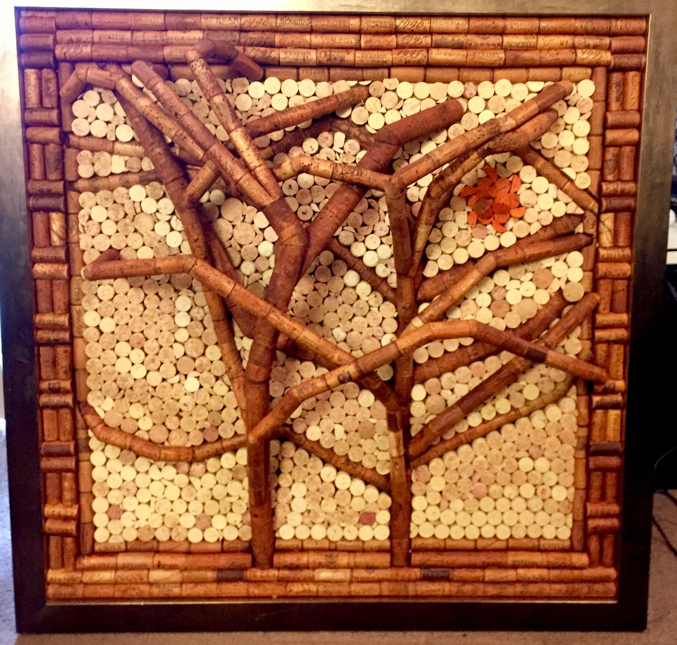 #Wallhanging#Art#Winecork #Wine#Cork#Tree#Treeart