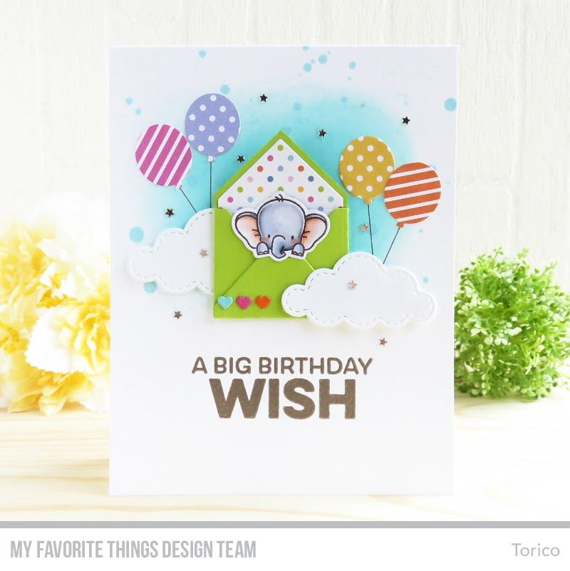 Sending Birthday Wishes Card Kit Up in the Air Stamp Set and Die – Sending Birthday Card