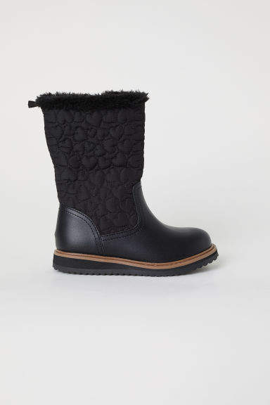 71626489e2044 H&M Lined Boots - Black | Products | Boots, Black boots, Black kids