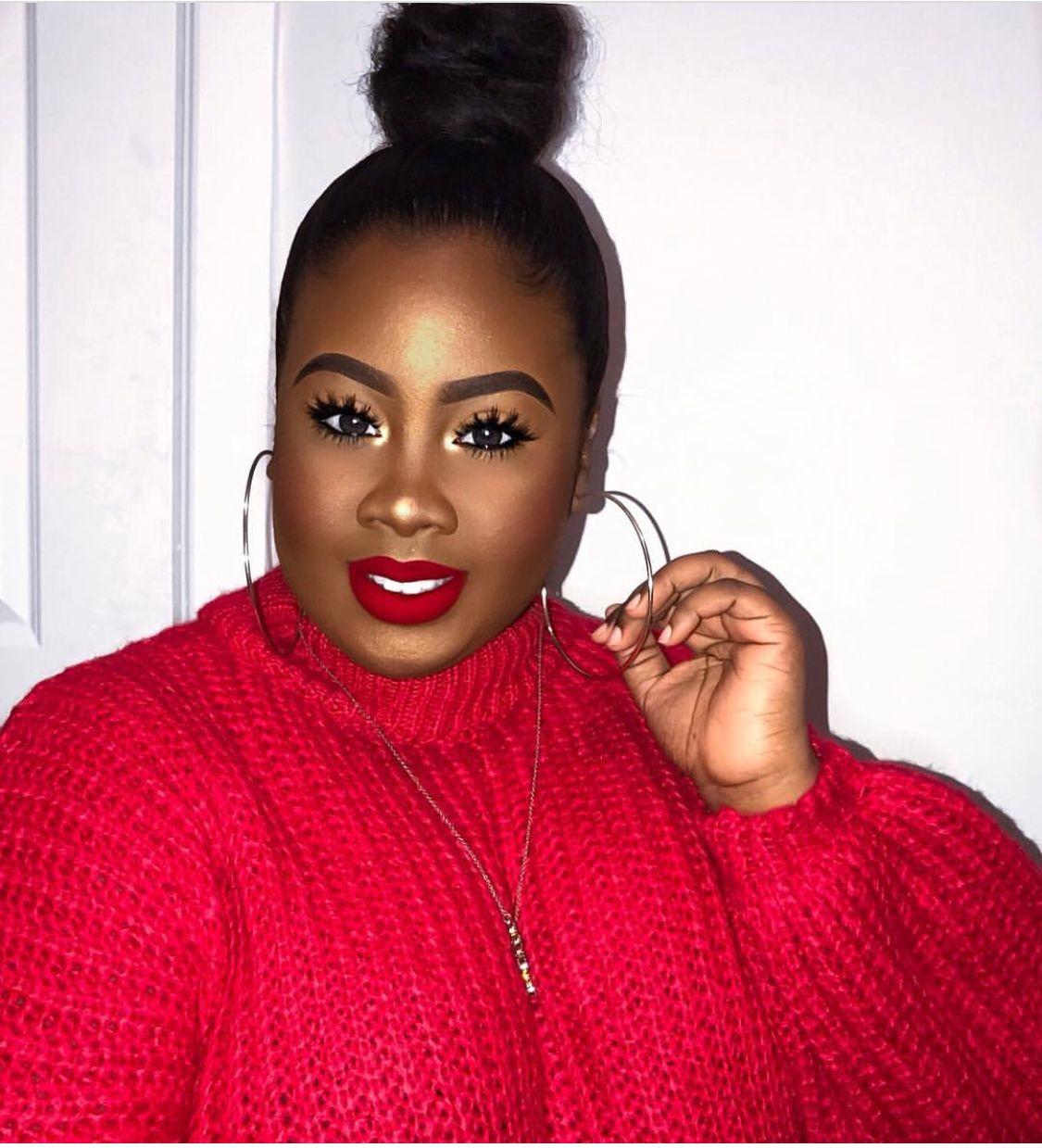 PINNED BY LOVEMEBEAUTY85 Black girl makeup, Dark skin