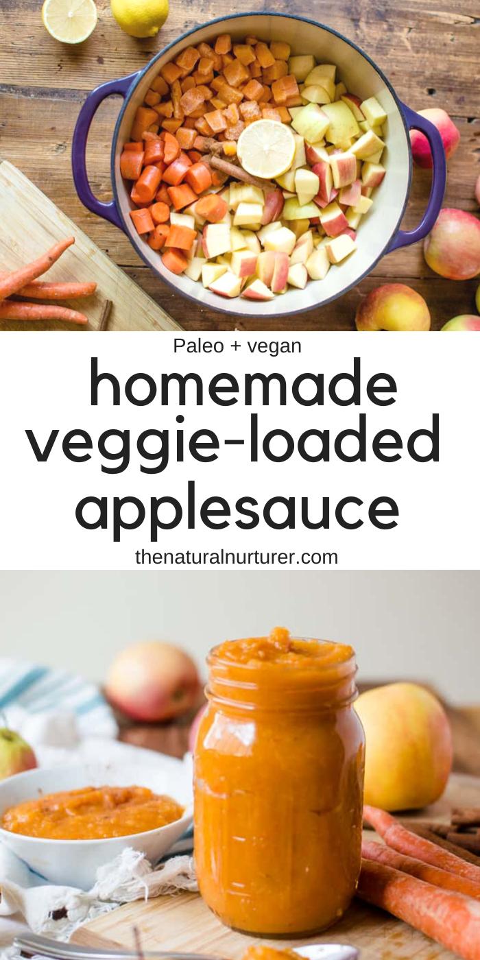 Easy Homemade Applesauce (with added veggies!)   Recipe in ...