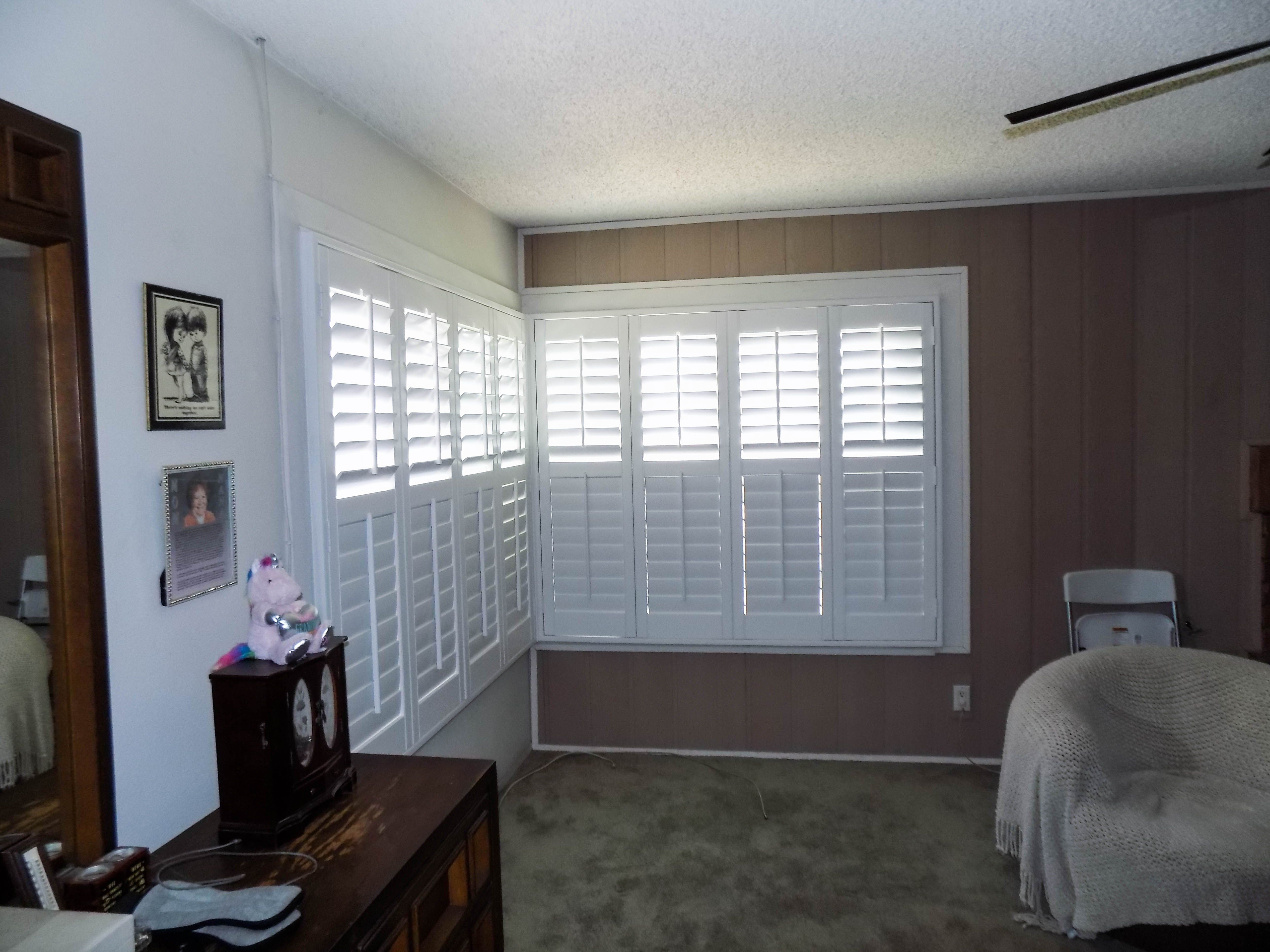 Interior plantation shutters with