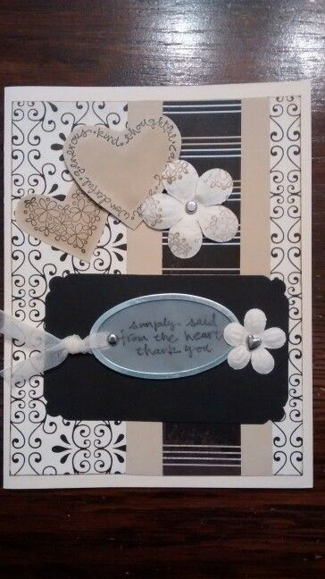 Monochromatic ( with stamping on paper flowers)