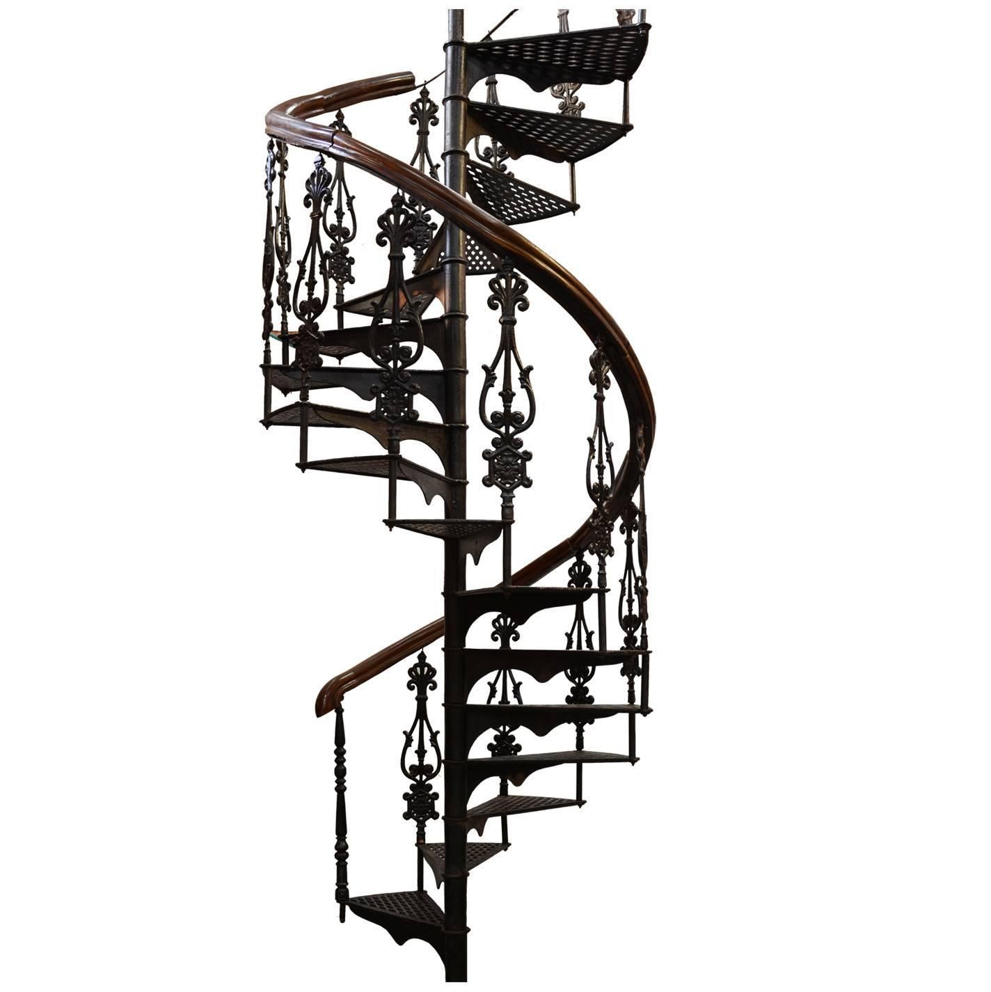 Best Antique Victorian Spiral Staircase From A Unique 640 x 480