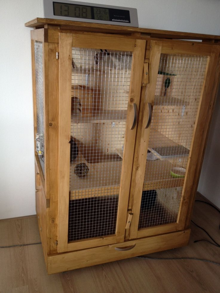 Wooden DIY Chinchilla Cage Chinchilla cage, Indoor