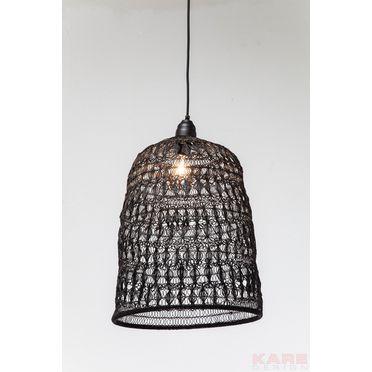 37070 lampada a sospensione flower weave nero kare design for Outlet arredo design brescia bs