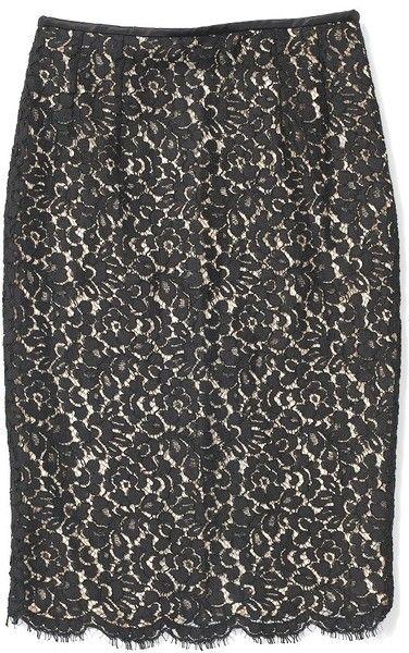 MICHAEL KORS Floral Lace Pencil Skirt - Lyst