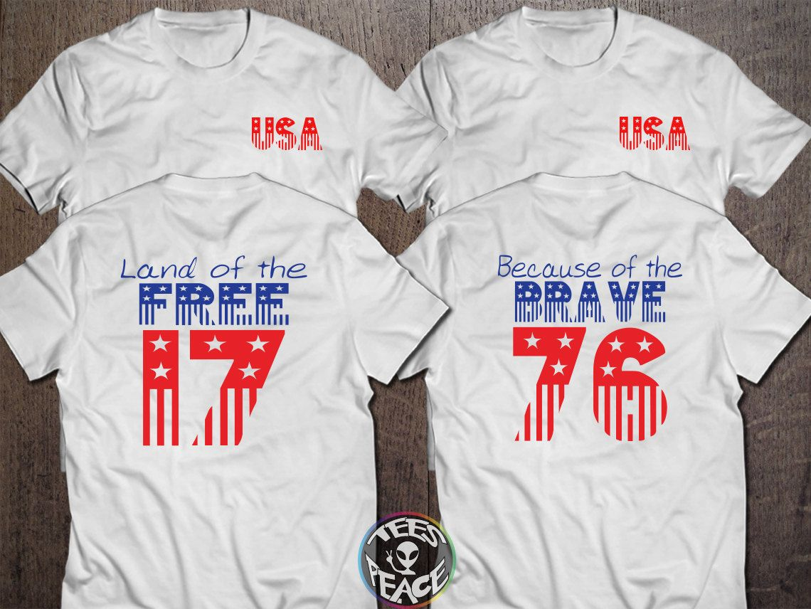 4th of July Shirt, Home of the Free tshirt, Home of the Free Because ...