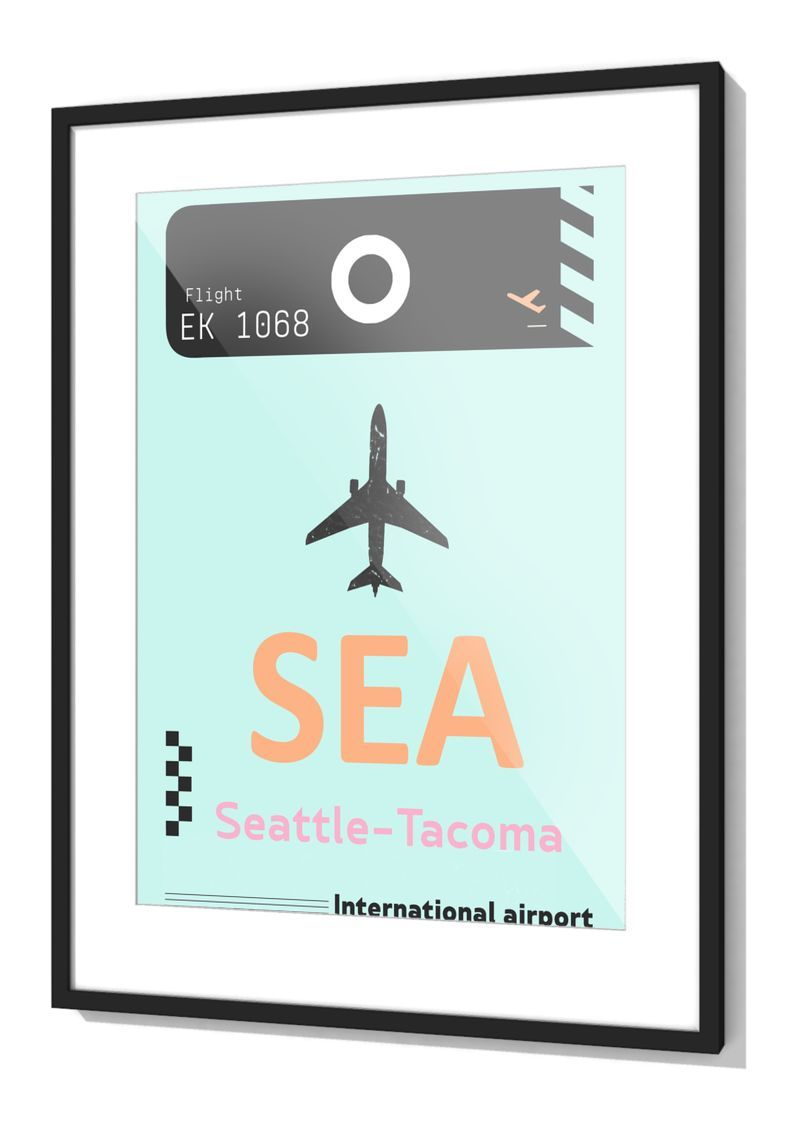 Seattle airport tag frames by jamsam on mipic