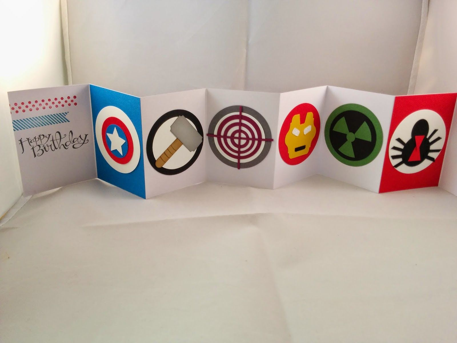 Jenny G Paper Crafts Punch Art That Packs A Superhero Punch Birthday Cards Diy Greeting Cards Handmade Birthday Marvel Gifts