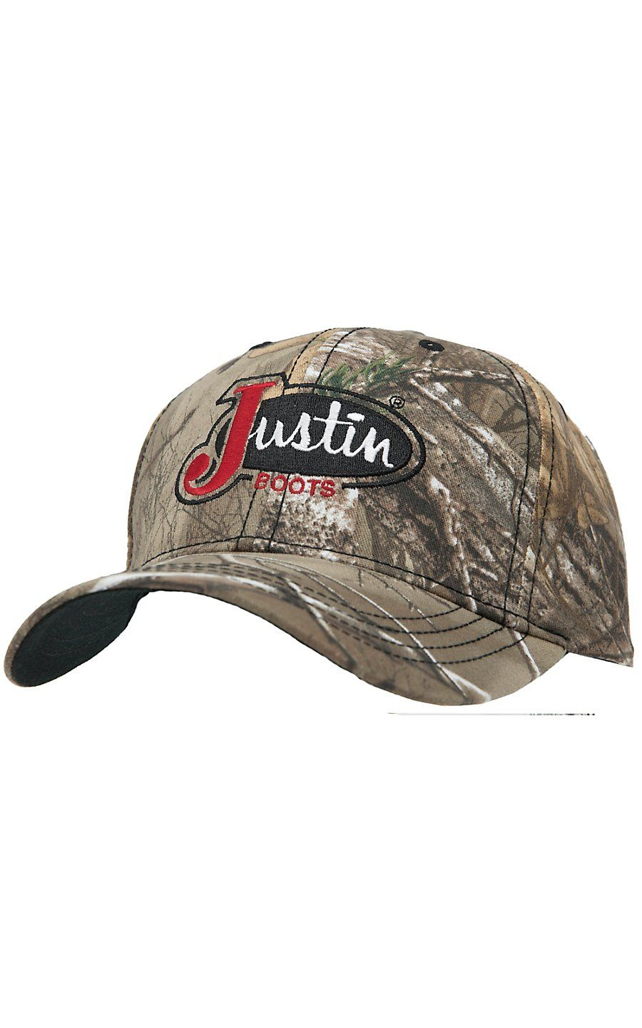 Justin Boots 174 Realtree Camo With Embroidered Logo Cap