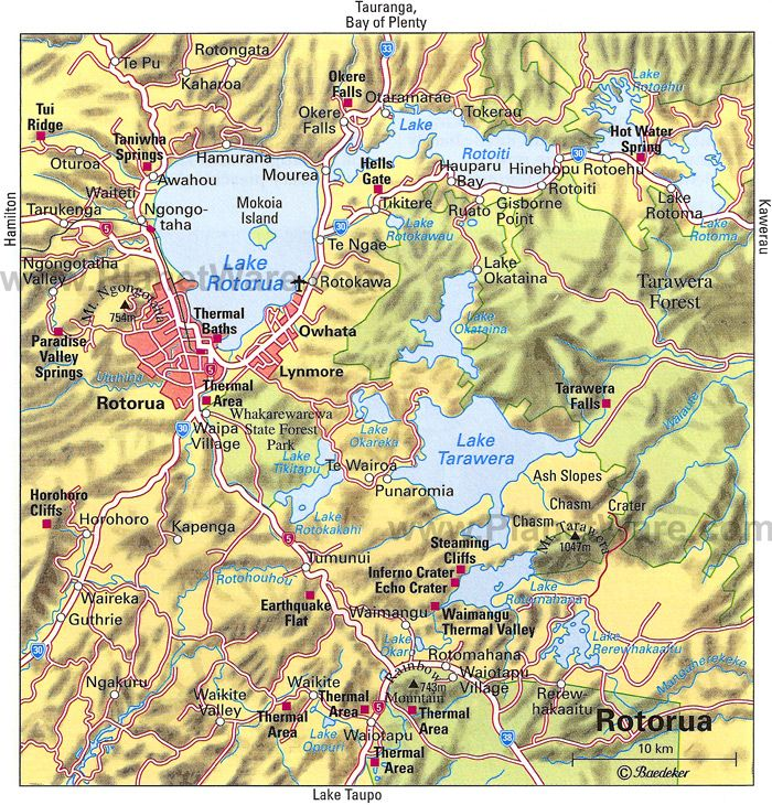 Rotorua Map Tourist Attractions New Zealand Pinterest Active