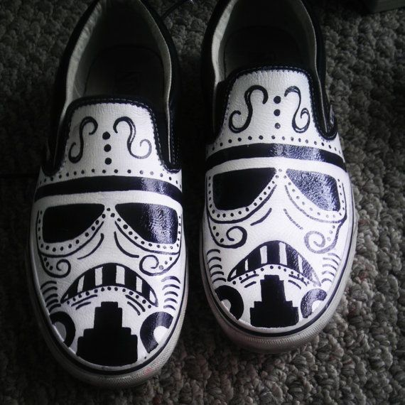 9611a56db2 Vans Day of the Dead Stormtrooper by GeekdroidsEmporium on Etsy ...