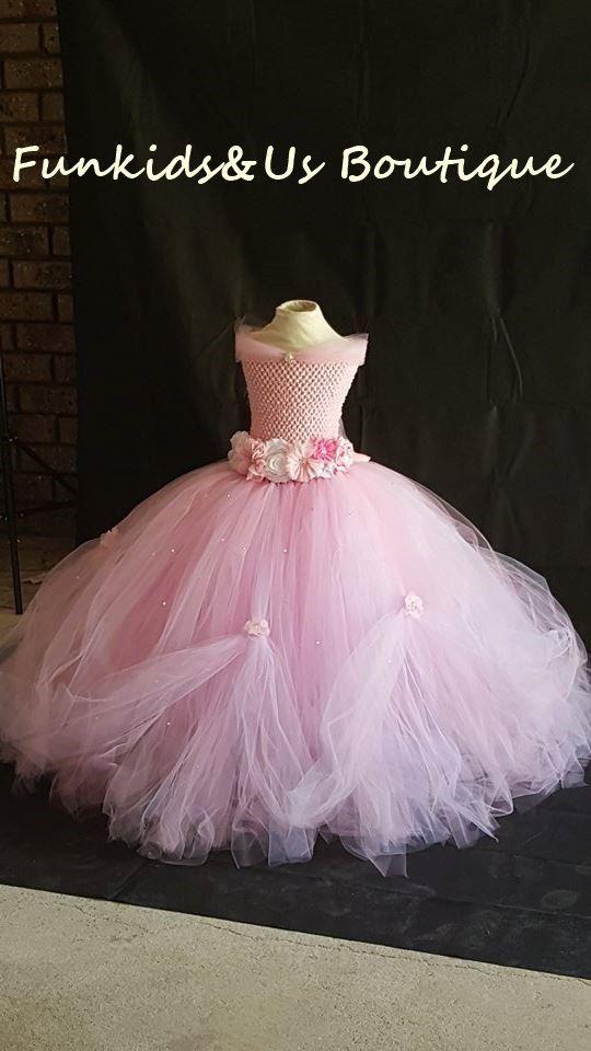 Hermoso vestido de princesa Tutu blanco rosa con diamantes de ...